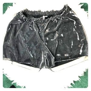 ASOS Metallic shimmery knit mesh shorts size 14